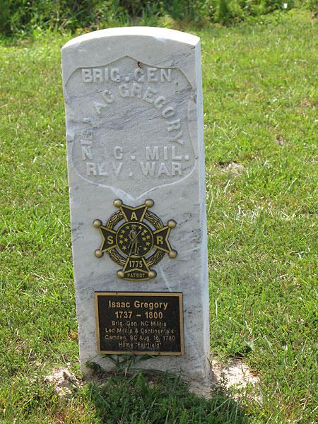 Brigadier General Isaac Gregory Site Marker